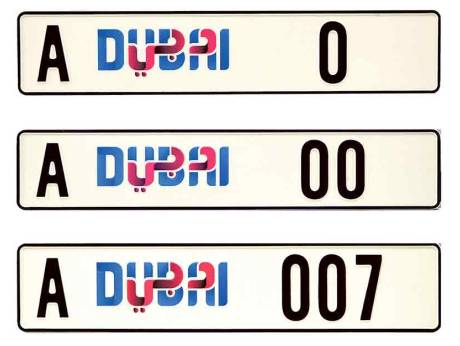 A Digital Number Plate Only In Dubai
