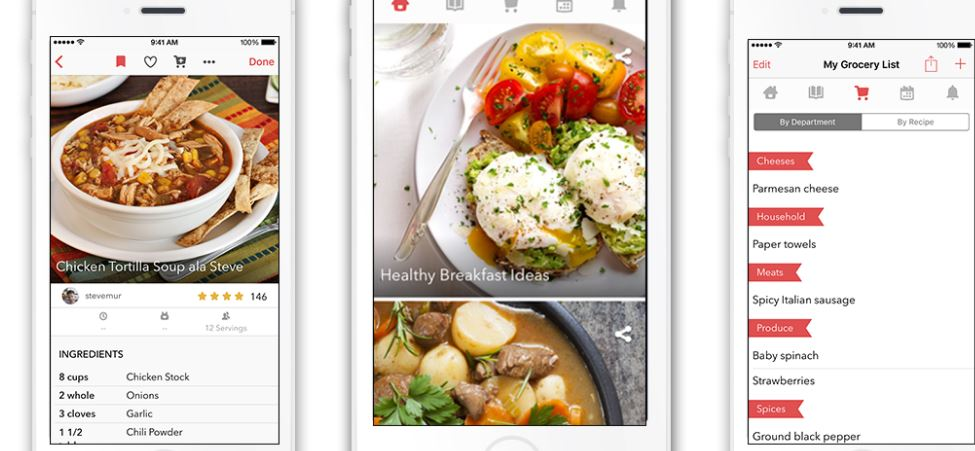 T3s top cooking apps for ios and android bigoven this apps aim is to make cooking simple it offers more than 350000 recipes and even includes a grocery list along with a planner forumfinder Image collections